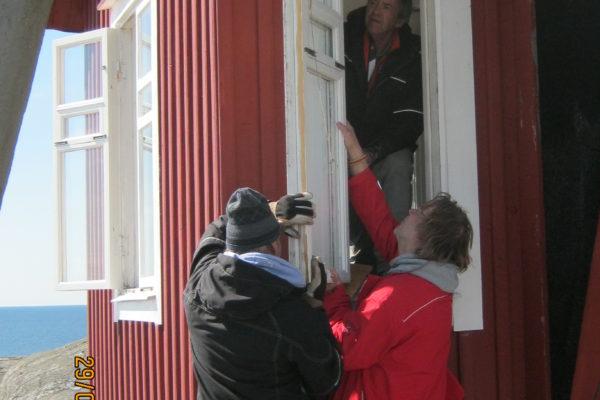 Arbdag 20170429 Servicelaget för fönster, Lars-Peter, Hans och Peter
