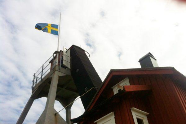 Avsked av Elly Pettersson flaggan på lotsutkiken